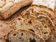 Домашен безглутенов хляб с оризово и царевично брашно